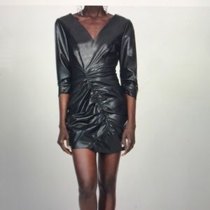 NWOT Zara faux leather mini dress